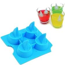 Silicone Shark Fin Ice Tray Cube Freeze Novelty Chocolate Mould Decor Tool YD