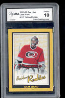 2005 Cam Ward Bee Hive Yellow rookie Gem Mint 10 #117