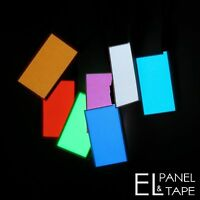 30mm x 50mm EL Panel - Single Connector Electroluminescent Sheet - Glow Foil