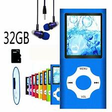 MP3 & MP4 Players Player Music With 32GB Memory SD Card Slim Classic Digital NEW