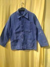 ancienne veste bleu de travail paysan , ouvrier / C 291