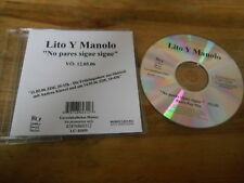 CD POP lito y Manolo-no pares Sigue Sigue (1) canzone PROMO SONY/Seven Days SC