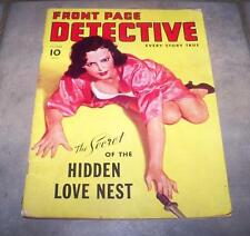 SEPTEMBER 1941 FRONT PAGE DETECTIVE MAGAZINE HIDDEN LOVE NEST KNIFE CLEAVAGE