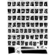 Block Alphabet Klarer Stempel Set [No. 32]