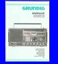 GRUNDIG SATELLIT 650 SHORTWAVE  USER MANUAL