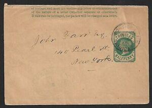 Trinidad 1898 QV Half Penny Wrapper
