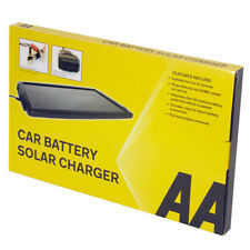 AA 12V Solar-powered Car Battery Charger - Black