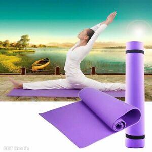 Yoga Mat EVA Non Slip Fitness Slim Gym Exercise Gear Picnic Camping Straps Mats