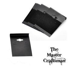 ⭐50 x BLACK VELVET EARRING DISPLAY CARDS SIZE 6.2cm x 4.5 UK SELLER JEWELLERY ⭐