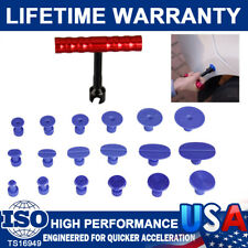 18Packs Tabs& T-Bar Hammer Puller Lifter Paintless Dent Pit Repair Removal Tools