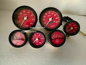 Smiths Replica 52mm Kit- Temp oil+ Oil + Fuel + volt+ Speedo+ Tachometer 85mm