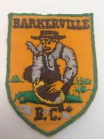 Vtg Barkerville BC Embroidered Sew On Patch Gold Mine Rush Canada AB Pan Travel