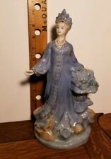 "Mistress of The Copper Mountain 10"" Russian USSR Figurine Gzhel malachite maid"