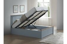 Birlea Phoenix Wooden Ottoman Storage Bed Frame - 4ft Small Double - Stone Grey