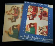 Pair of Vintage Meyercord Transfer Decal Sheets Americana Frontier Women 865 Nos