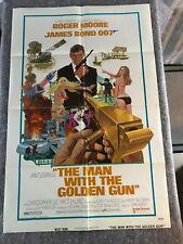 "THE MAN WITH THE GOLDEN GUN 1974 ORIG 1 SHEET MOVIE POSTER 27""x41"" (F/VF-) BOND"