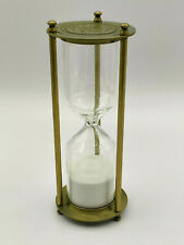 Kelvn & Hughes Hourglass Sand Timer, Brass-Tone Metal Hour Glass with White Sand