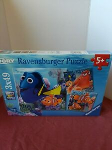Brand New Factory Sealed Ravensburger Finding Dory Set of 3 49 Puzzles 3 x 49
