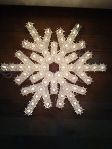 """13"""" GE Lighted SNOWFLAKE Decoration Indoor/Outdoor 72 LIGHTS Christmas Holidays"""