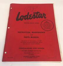 CM Lodestar Electric Chain Hoists Manual Instruction Manual 80-Y