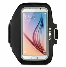 NEW BELKIN SPORT-FIT PLUS ARMBAND FOR SAMSUNG GALAXY S7 S6 BLACK EDGE NEOPRENE