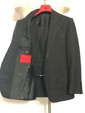 $4k ISAIA Suit-38R/38S-SUPER130s-W HANGER-MODERN Cut-2B/2V Jacket+FLAT FRONT