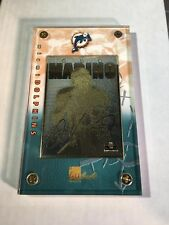 1998 AUTHENTIC IMAGES DAN MARINO 24K GOLD CARD IN SCREW DOWN CASE MIAMI DOLPHINS