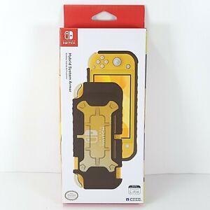 New Sealed Hori Nintendo Switch Lite Hybrid System Armor Case Gold Black