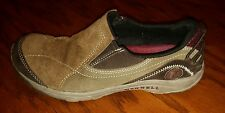 Merrell Kamori Dark Earth womens brown suede slip on mocs shoes size 6
