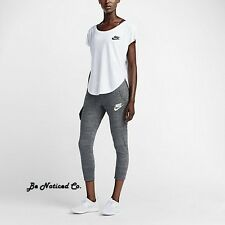 Nike Gym Vintage Women's Capris M Gray Gym Casual Training Running New
