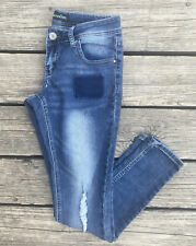 New listing Almost Famous Youth Blue Jeans Size 5 Mildly Distressed Skinny Jeans