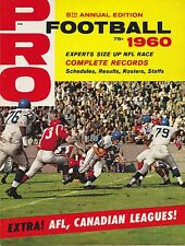 1960 PRO FOOTBALL MAGAZINE  NFL  AFL CFL