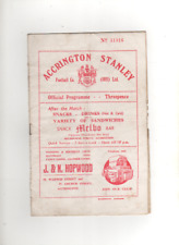 1954-55 Accrington Stanley V HALIFAX TOWN 27th DICEMBRE 1954, DIVISIONE 3 North