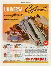 1949 AMERICAN MAGAZINE ADVERT FOR THE UNIVERSAL COFFEEMATIC COFFEE POT b193