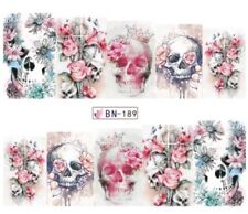 Nagel Sticker Tattoo Skull Totenkopf  La Catrina Fingernagel Nail  Nagelsticker
