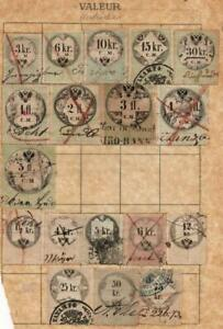 AUSTRIA: Used Revenue Examples - Ex-Old Time Collection - Small Page (39448)