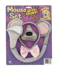 Mouse Rat Animal Nose Ears Tail Bow Tie W/ Noise Costume Accessory Kit Set