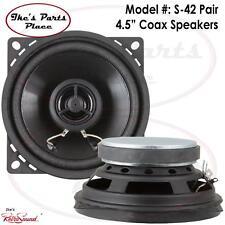 "RetroSound S-42 Pair Speakers 4.5"" Universal/OEM 2-Way Coax- 50W No Grills"
