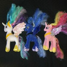 My Little Pony G4 TY Plush Lot of 3 Stuffed Princess Celestia Luna Cadance