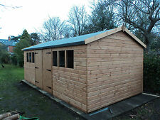 Wooden  20 x10 Heavy duty t&g timber shed , workshop