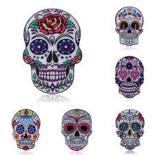 6PCS Beauty Fashion Printing Pattern Pin Brooch Skull Womens Jewellery Xmas Gift