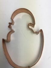 Copper Heavy Duty Easter Cookie Cutter Hatching Chick Egg 5.5 x 4 x 1 Inch Large