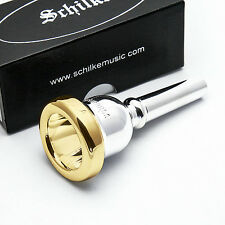 Genuine Schilke 51C4 Small Shank 24K Gold Rim & Cup Trombone Mouthpiece NEW
