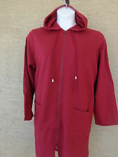 Roaman's Light Weight Jersey Fleece Lined Hooded Jacket Garnet L 18-22W