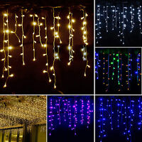 LED Icicle Hanging Wall Curtain Fairy String Lights Christmas Xmas Wedding Party