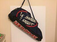 Louisville Slugger Baseball/Softball Equip. Duffle Bag Blue/Red/White USED
