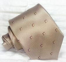 Cravatta ,Nuova,Made in Italy, 100% seta , marrone , realizzata a mano , 8,5 cm