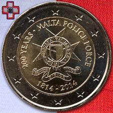 2 euros conmemorativa moneda coin Malta 200 años policía Police 2014 UNC. - bu St