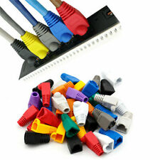 50PCS Modular RJ45 Network Cable Connector Plug Boot Strain Cover Cap WTEC Tools