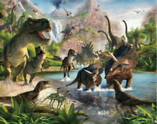 7X5FT Polyester Backdrop Photography Prop Background Era of Dinosaurs Cretaceous